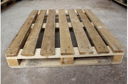 Аренда деревянного Европоддона БУ 1200х1000мм 1 сорт с нижней обвязкой