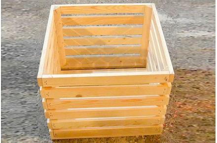 Ящик дощатый реечный овощной Арт ЯО0006